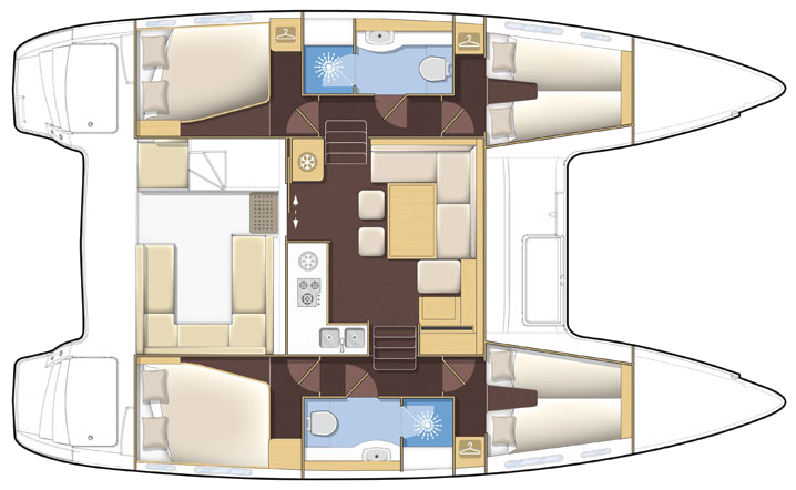 40' waterline Lagoon lagoon 400s2 400S2 catamaran Catamaran spacious accomodating layout comparison better best deals great special